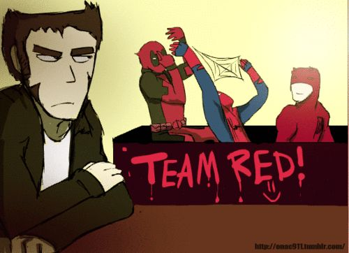 ~ aha look at deadpool