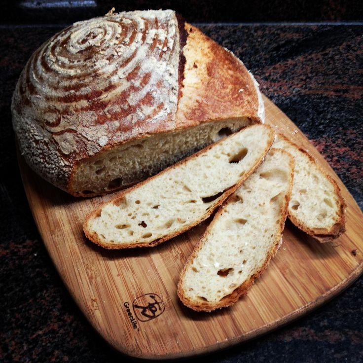 Sourdough wheat with single score.