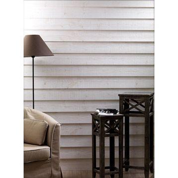 Lambris bois sapin brut de sciage blanc 205x13cm p 13mm - Lambris brut de sciage ...