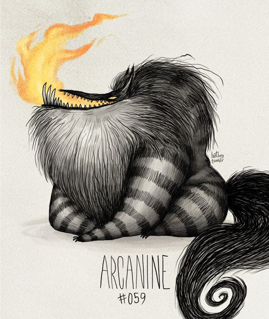Arcanine #059 Part of The Tim Burton x PKMN Project By Vaughn Pinpin