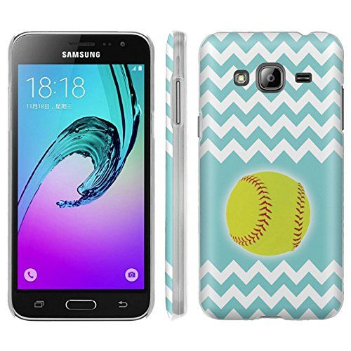 Buy Samsung Galaxy J3 Phone Case [ArmorXtreme] [Matte] Designer Image [Ultra Slim Cover] - [SoftBall Teal Chevron] for Samsung Galaxy J3 [2016] [Amp Prime] [Express Prime] NEW for 9.95 USD | Reusell