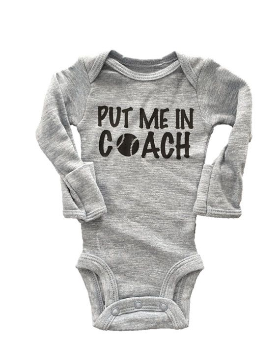 Hey, I found this really awesome Etsy listing at https://www.etsy.com/listing/251078428/put-me-in-coach-onesie-baseball-onesie