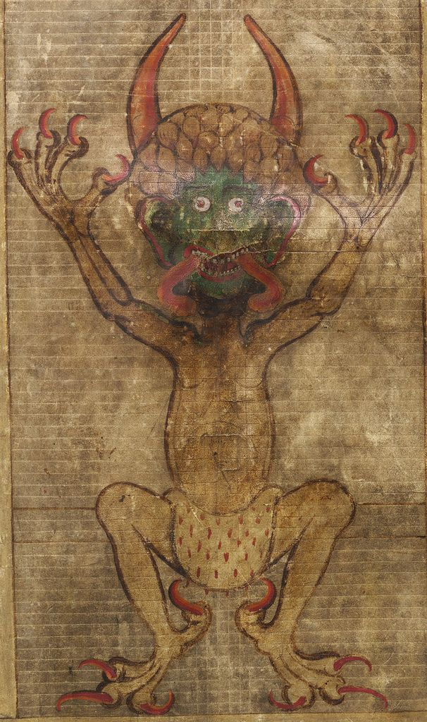The Codex Gigas or the Devil's Bible at the National Library in Stockholm is famous for two features. First, it is reputed to be the biggest surviving European manuscript. (Codex Gigas means 'giant book'.) Secondly, it contains a large, full page portrait of the Devil. For more information on the manuscript see ift.tt/rt3xLI