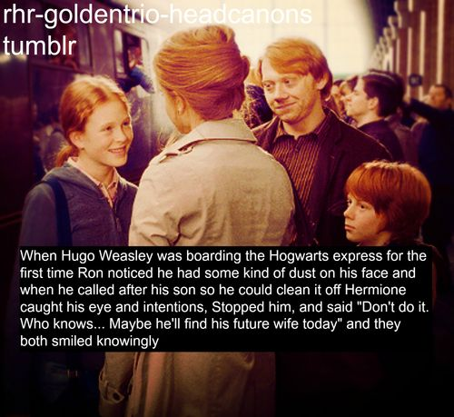 aw... whenever i see the 'nineteen years later' scene, i always remember them, not so many years ago, boarding the hogwarts express. it makes me tear up.