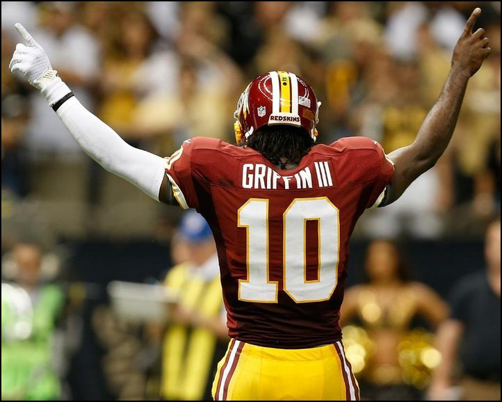 Robert Griffin III (RGIII) Hail to the Redskins!