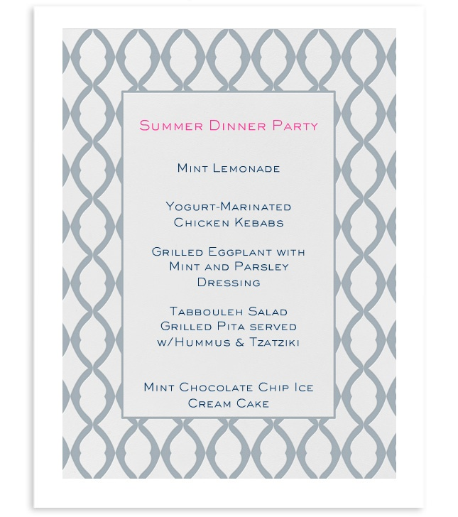 delicious summer dinner party menu!  www.goodbonesgreatpieces.com