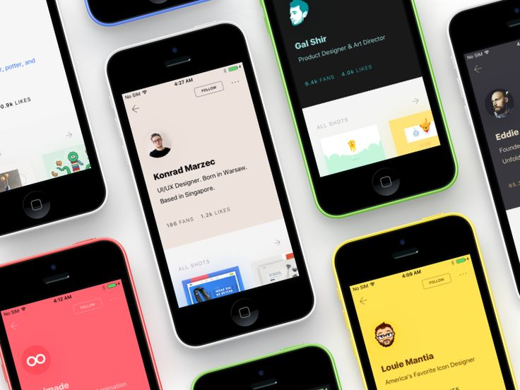 The profile page for a WIP Dribbble app.   Theming player's profile base on the profile picture.  Neeat is a WIP dribbble app for iOS only, if you are interested to beta test it, fill in this form ...