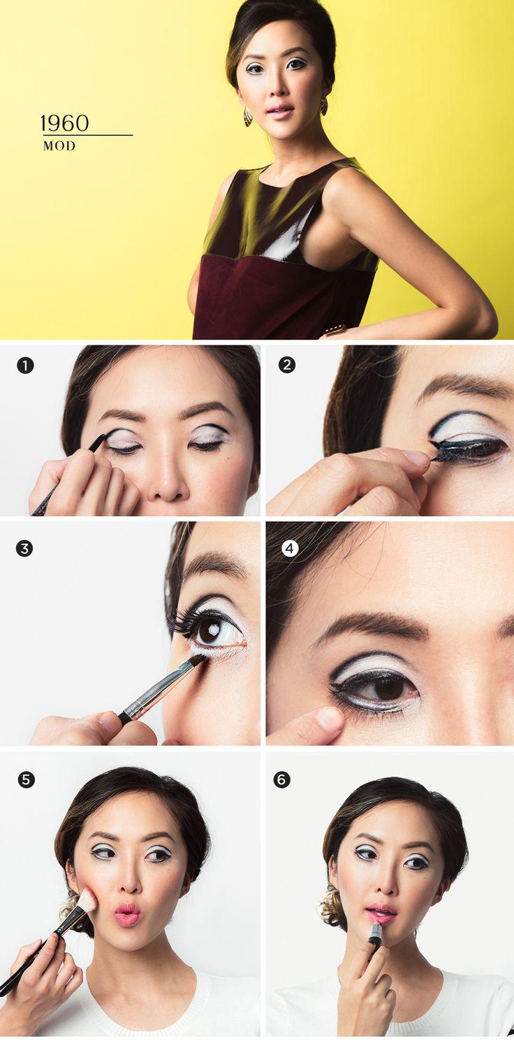 chriselle_lim_last_minute_halloween_looks_decade_makeup_mod_tutorial_infographic