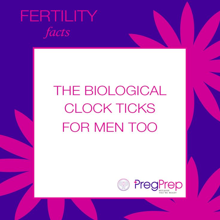 Women are not the only ones with a ticking biological clock, men have one too! According to Fertility & Sterility, males who are 45 took 5x longer to conceive than males who are 25 and younger. . #PregPrep #FertilityFriday #fertility #fertile #pregnancy #ttc #biologicalclock