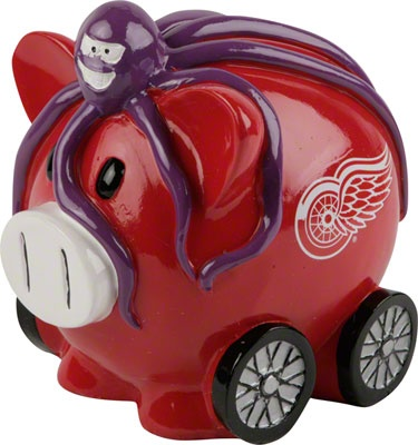 Detroit Red Wings Thematic Piggy Bank