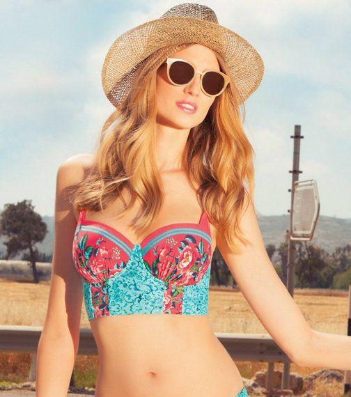 Profile Blush by Gottex Anastasia Underwire Bustier Bikini Top ...