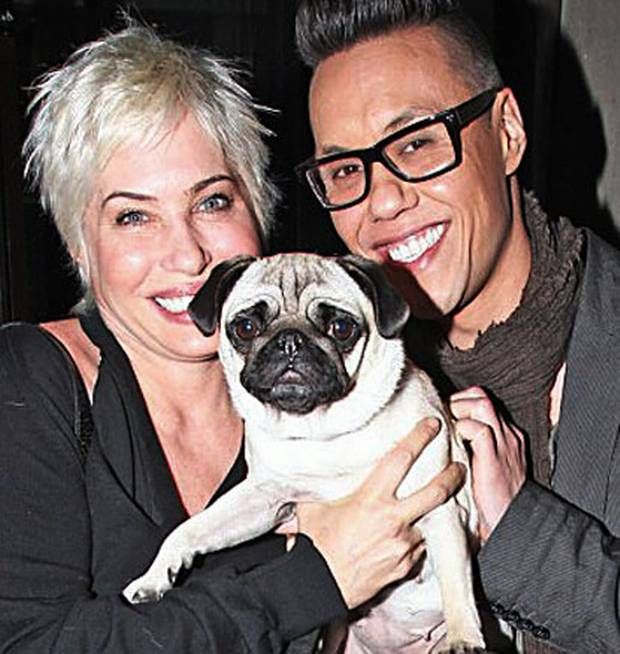 Brix, Pixie the pug with TV colleague Gok Wan.