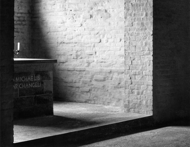 The Daily Drama Of Light Hitting A Wall Inside The Crypt Of The Sint  Benedict Abbey In Vaals, The Netherlands By Monk Architect Dom Hans Van Der  Laan.