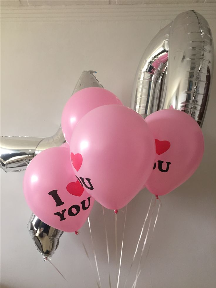 Valentine's Day balloons, I love you! XO
