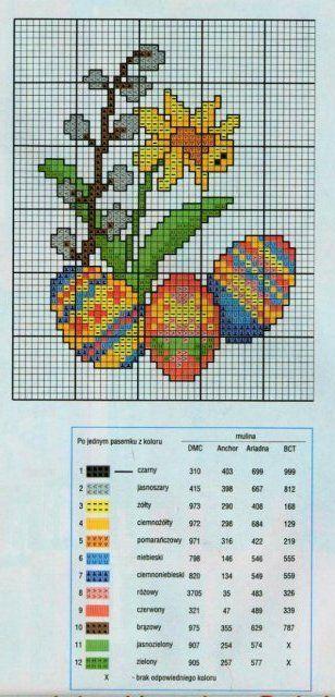 Подборка миниатюр к Пасхе / вышивка, миниатюра, пасха, крестик, схема