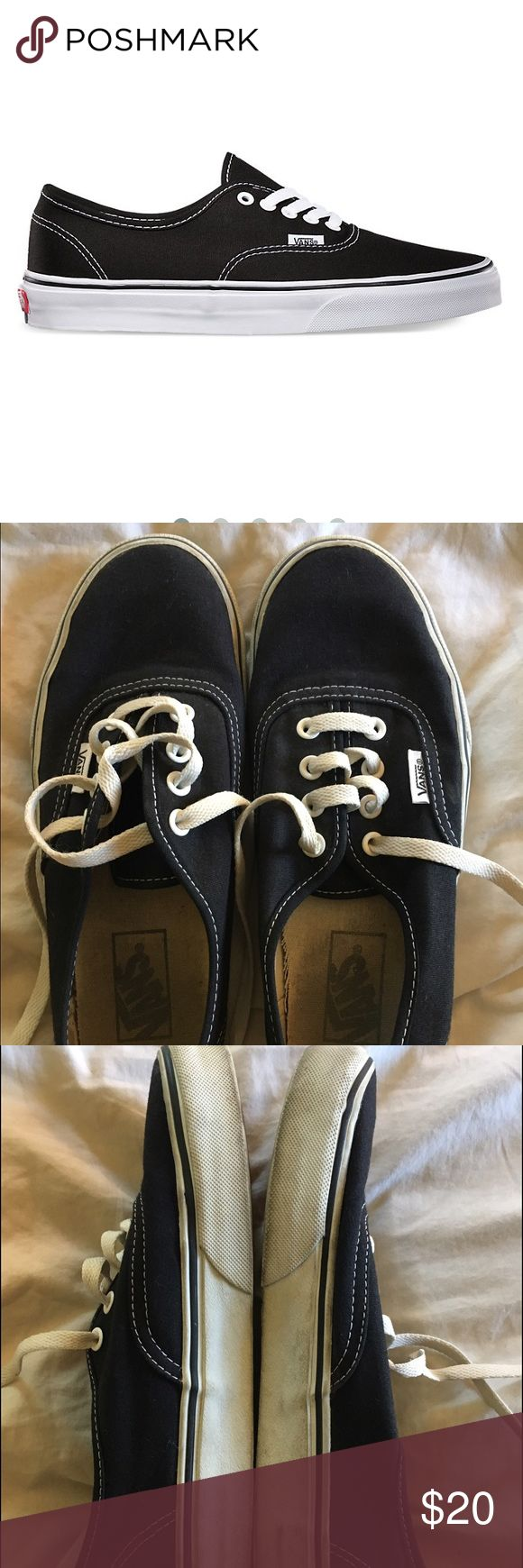Vans Authentic Black Authentic vans in black! Pre-loved condition! Obviously these have been worn several times but still in good condition - most sign of wear is on inside! Lots of life left! Vans Shoes Sneakers