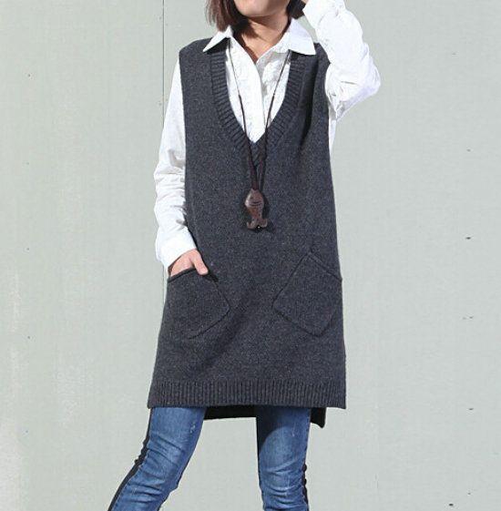 Купить товар5 женщины пуловер зима 2015 женщин Chaquetas Mujer карманы жилет асимметрия свитер с лучших женщин вязать жилеты G104 147 в категории Пуловерына AliExpress.        Азии, среднего размера                      Пожалуйста, позвольте +/-1.5 см разница для