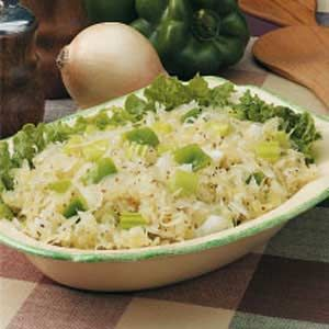 Crunchy Kraut Salad Recipe -Anyone who likes sauerkraut will enjoy this salad. I serve it as a side dish with ham, any kind of sausage or a sandwich. -Mrs. J.B. Culwell, Arlington, Texas