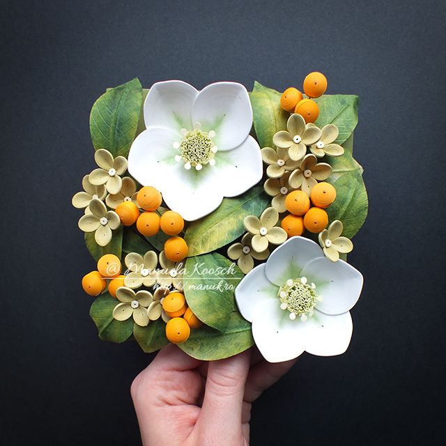 Floral Tile III - Spring Greenery