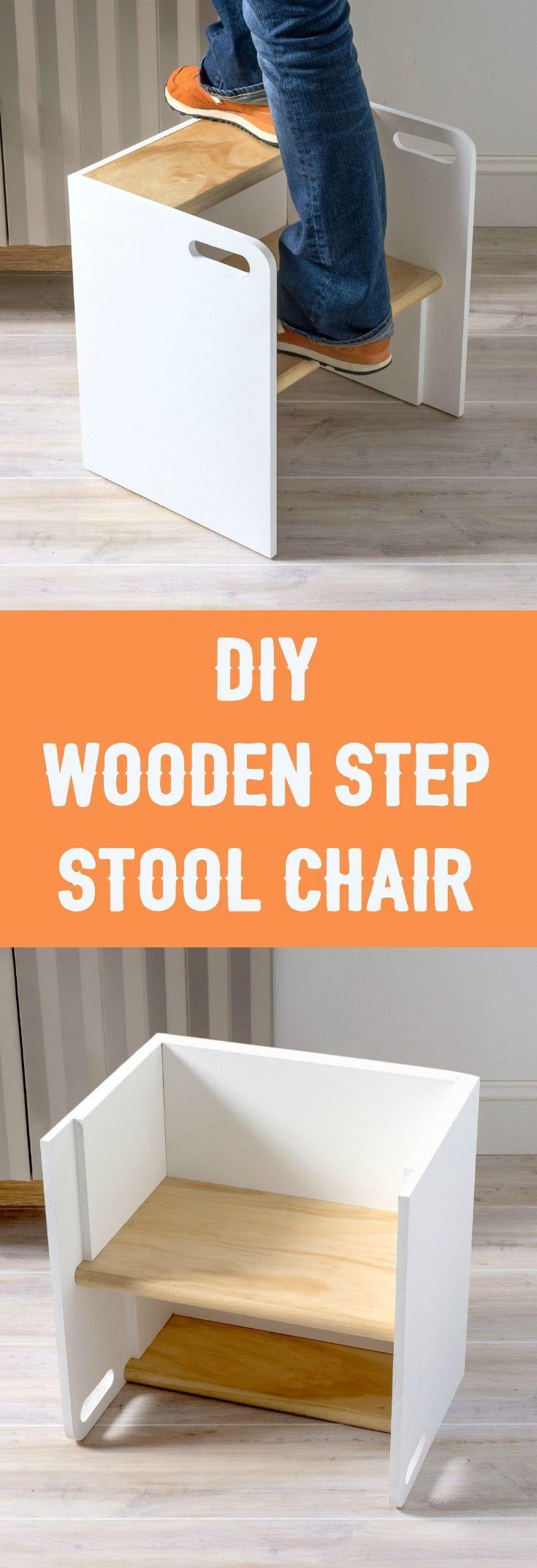 Wooden dollhouse step foot stool wood footstool stepstool furniture - Diy Wooden Step Stool Chair