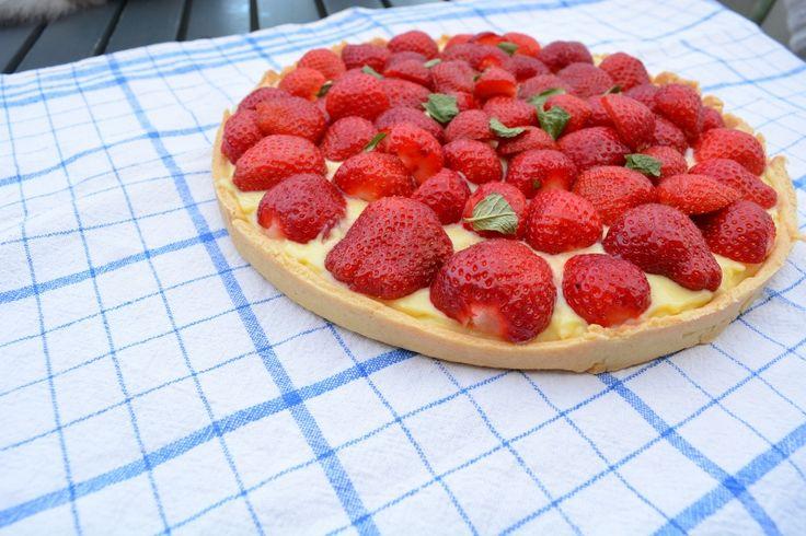 tartes aux fraises menthe creme patissiere facile maison