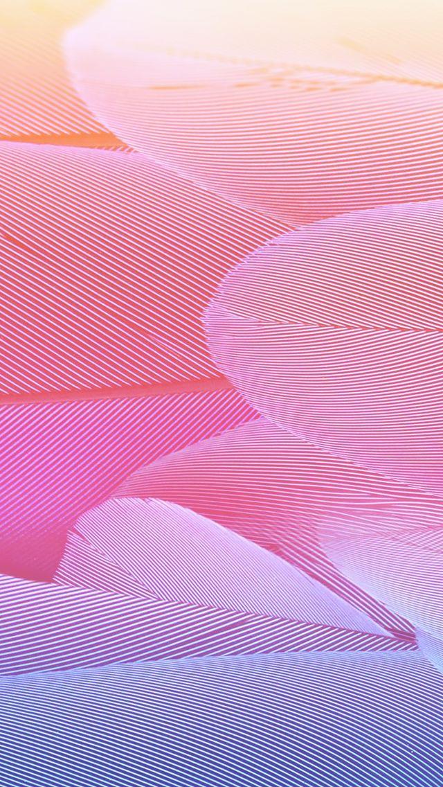 Warm Vector Swirl Feather #iPhone #5s #Wallpaper