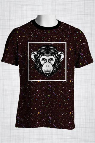 Plus Size Men's Clothing Cheeky Monkey  Wild Grunge Collection - Plus size men's clothing Fabric for this t-shirt is a lightweight polyester cotton fabric that,  * absorbs moisture  * transfers body perspiration away from the skin  * breathable and lightweight * tear resistant  * shrink resistant * quick drying  * comfortable