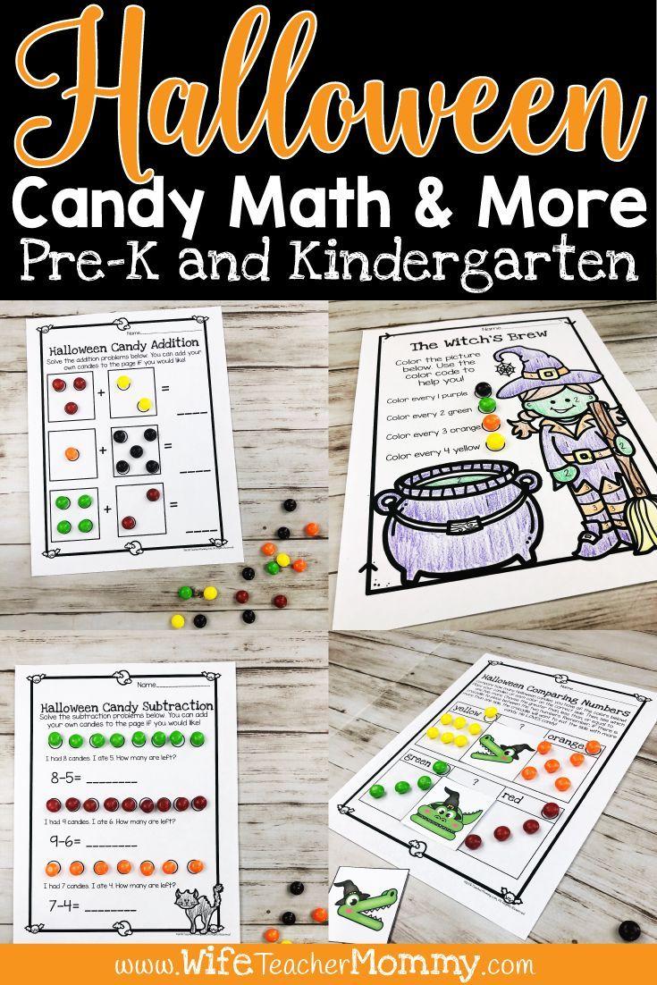 Halloween Candy Math Activities More For Kindergarten And Pre K Wife Teacher Mommy Candy Math Halloween Kindergarten Activities Candy Math Activities [ 1102 x 735 Pixel ]