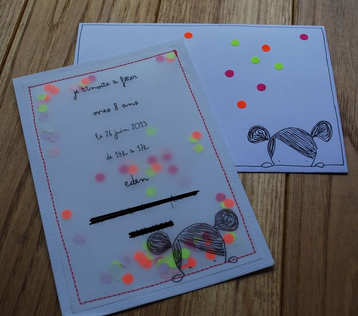 invitation confettis