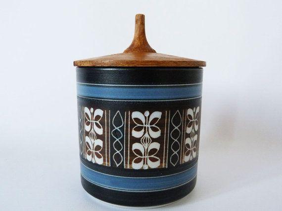 Vintage Ambleside pottery sugar / jam pot by planetutopia on Etsy