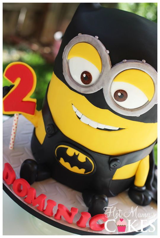 Batman Minion Cake - For all your cake decorating supplies, please visit craftcompany.co.uk