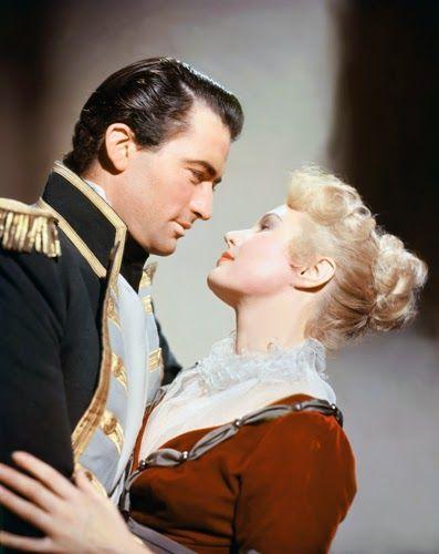 "Virginia Mayo & Gregory Peck in "" Captain Horatio Hornblower """