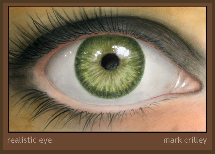 Realistic Eye Illustration by ~markcrilley on deviantART    Realistic Eye Illustrationby ~markcrilley  This is art I created as part of my latest YouTube video, the subject of which was the various tools and techniques I use to color artwork. You can watch the video and see in time lapse the steps I took taking this from pencil lines to finished art: http://www.youtube.com/watch?v=iybQwiJWToM