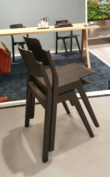 New introduced on Stockholm Furniture Fair:   Ponte chair by #Lundbergsmobler - design #SamiKallio Studio #stackable wooden chair in clear wood, can be stained in different nice colours  #2016sff  #sthlmfurnfair Lundbergs Möbler - In Holland at Nordermöbler Scandinavian furniture www.nordermobler.nl