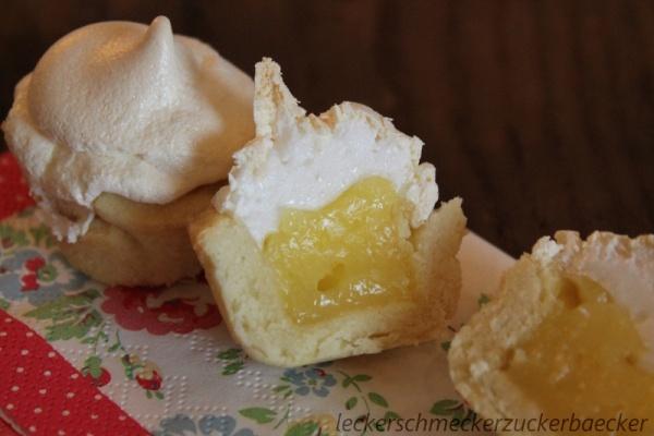 Zitronentörtchen aufgeschnitten