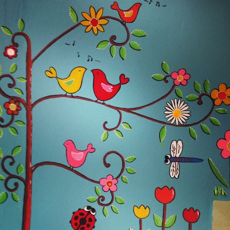 8 best preschool garden mural images on Pinterest Garden mural