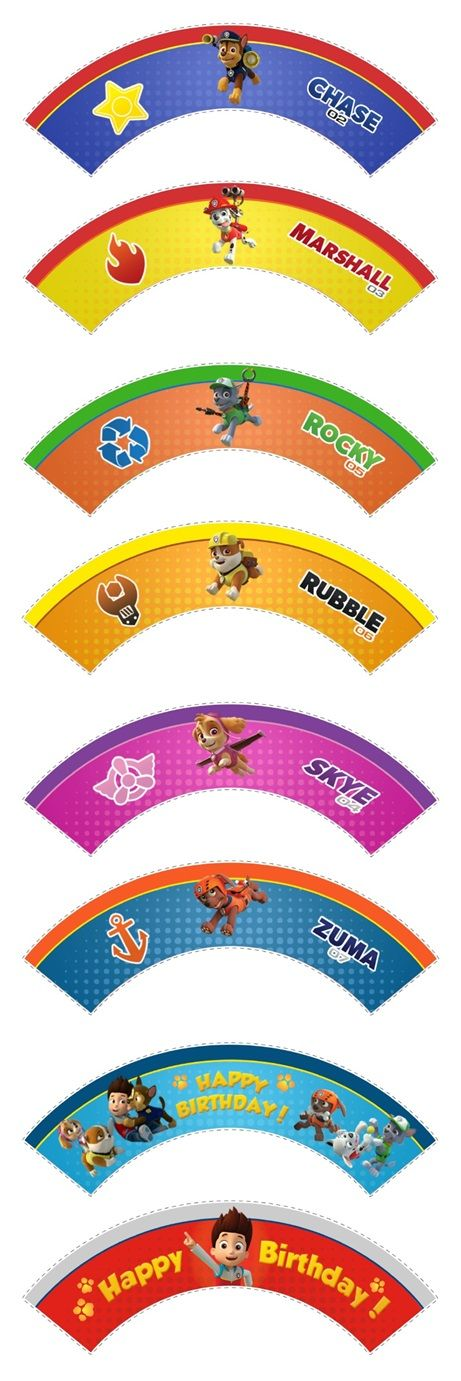 Paw Patrol Cupcake Wrappers