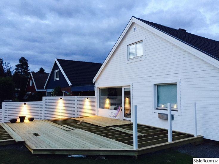 Ny fasad i trä, nya fönster & altan dörr, nytt plank, nytt trädäck, ny entré samt ny infart!.