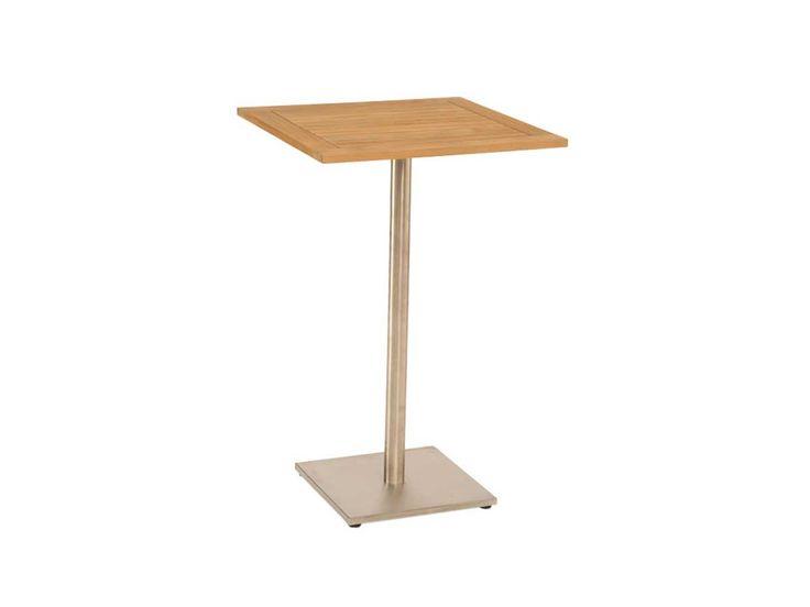 Stern Gartentisch/Stehtisch Edelstahl Teak 70x70 cm kaufen im borono Online Shop