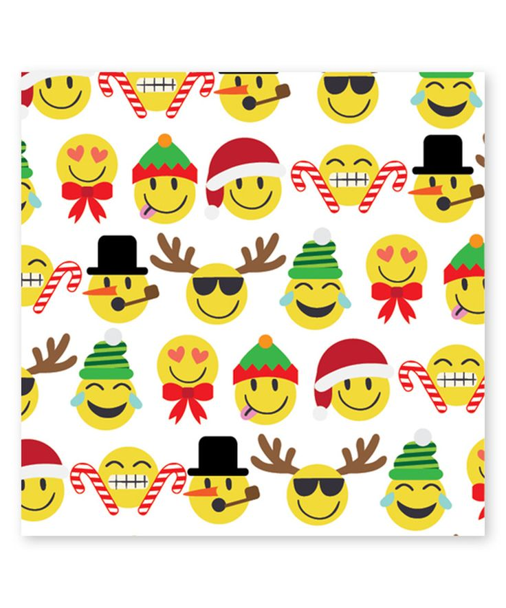 This Emoji Christmas Jumbo Gift Wrap Roll - Set of Three by Jillson & Roberts is perfect! #zulilyfinds