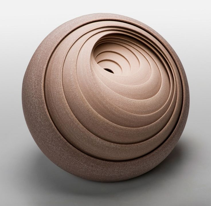 Concentrically Layered Ceramic Sculptures and Vessels by Matthew Chambers