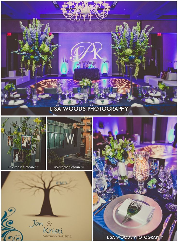 Your Very Own Fairy Godmother Weddings & Events @W Austin  The W Austin, Images by @Lisa Phillips-Barton Woods, Flowers by @Florencia Cotignola Fetish  Austin Wedding blue purple chandelier