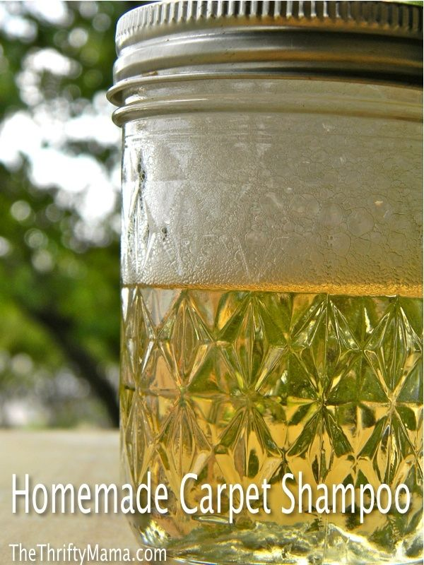 Homemade Carpet Shampoo   4 tbsp. Hydrogen Peroxide 3% solution  2 tbsp. White Vinegar  1 tbsp dish detergent  5 drops of essential oil (optional)  Directions:   1: Mix ingredients very well.  2: Blend mixture with 1.5 quarts of hot water.  3: Use in carpet cleaner  ENJOY! by Colorado.Mary.S