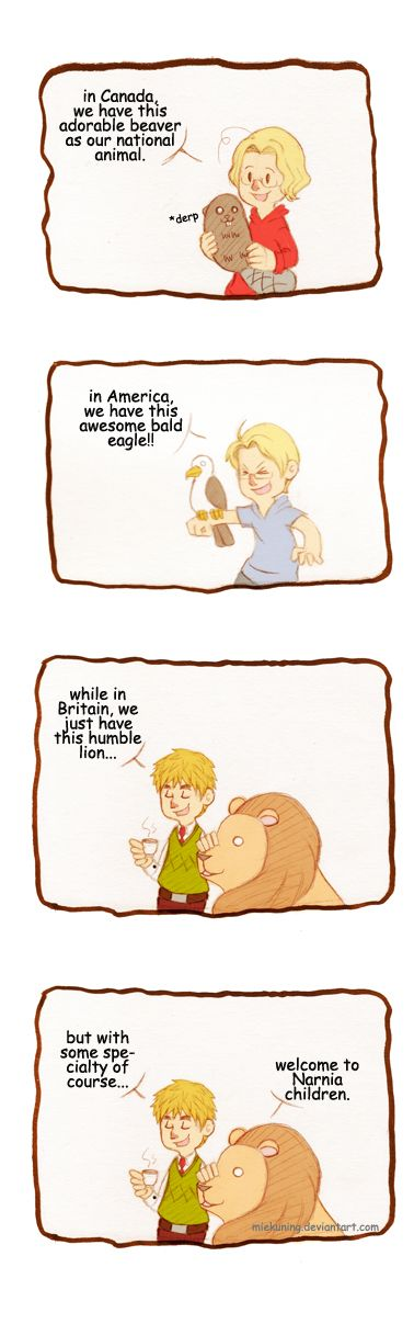 APH: fun with national animals by MieKuning.deviantart.com on @deviantART