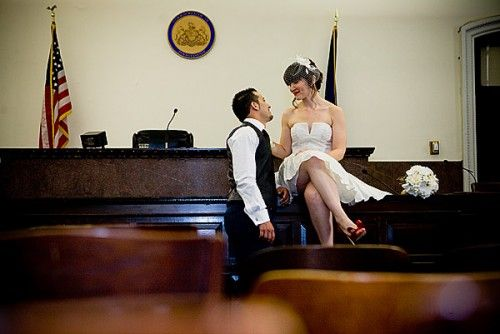 Garnette and Hamza, who wed in a small ceremony in a private courtroom at Philadelphia's City Hall, surrounded by 30 of their family and fri...