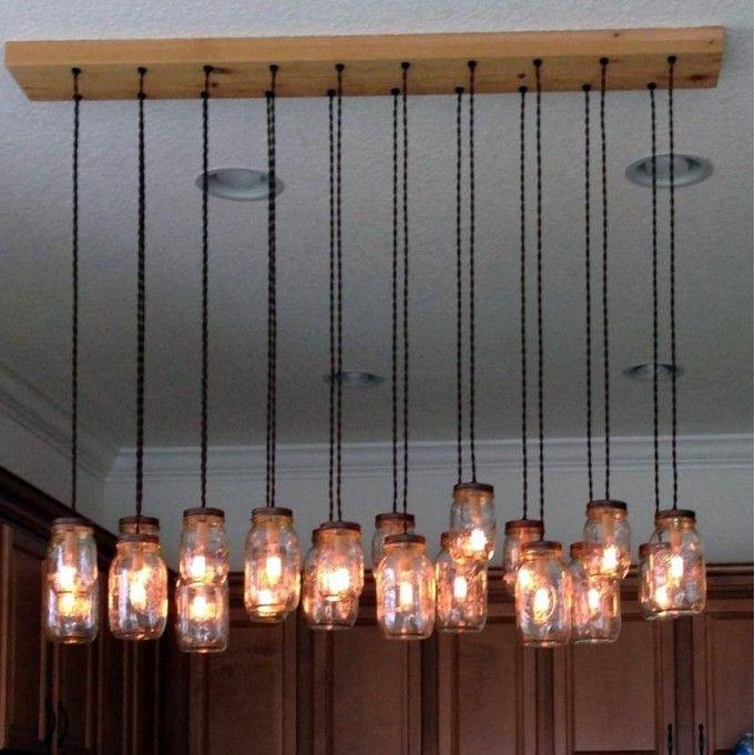 DIY 18 Light Mason Jar Chandelier Kit #homedecor #design #style #home #furniture #accessories #styling #fashion #homeideas #eclaiage #beleuchtung #maison #illuminazione #lighting #masonjar #masonjardiy USA: www.creative-cables.com