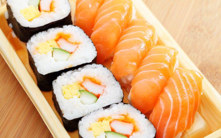 Un piatto di sushi