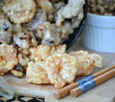 Crispy Honey Shrimp with Candied Walnuts
