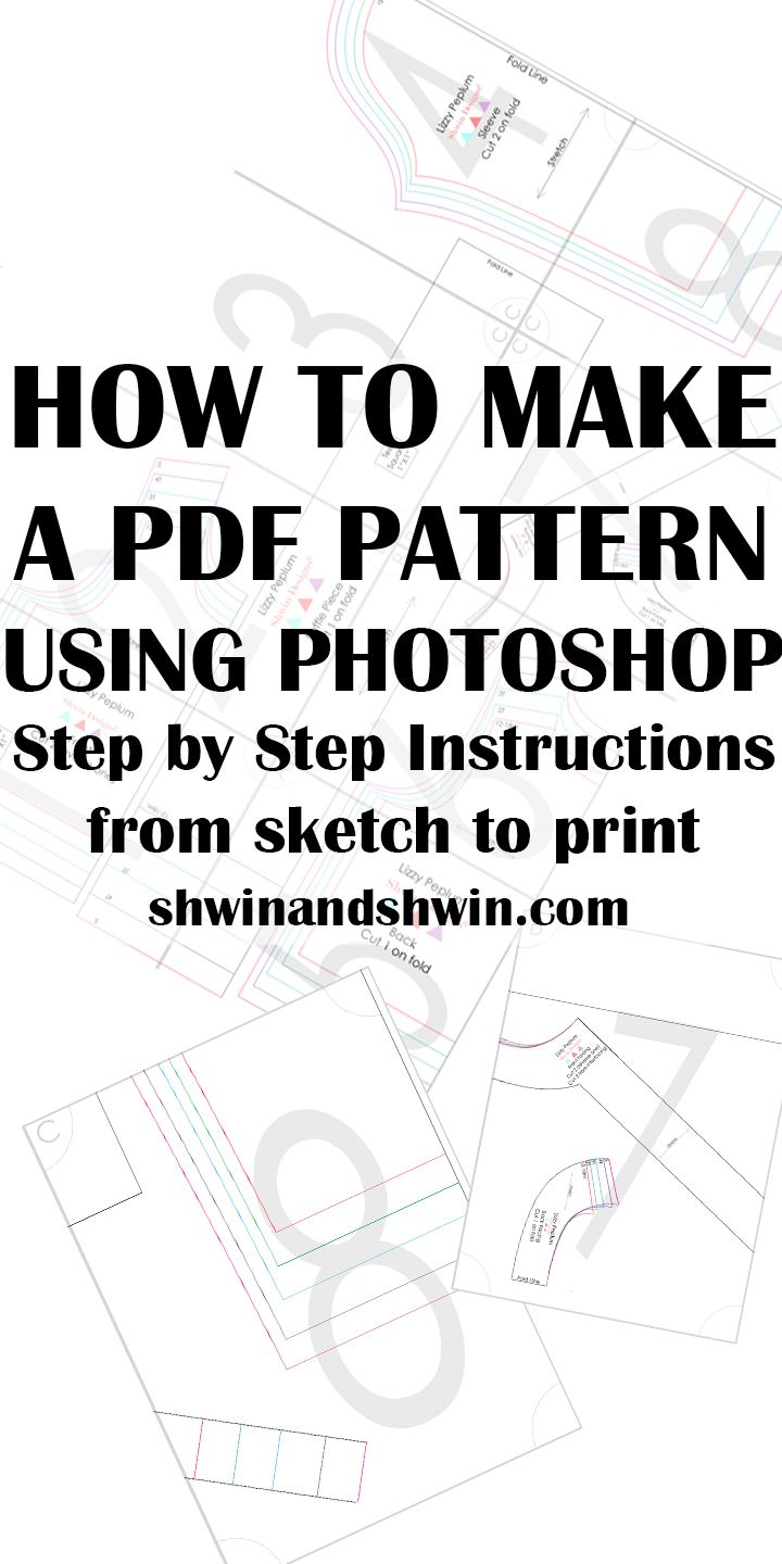 How to make a PDF Pattern in Photoshop