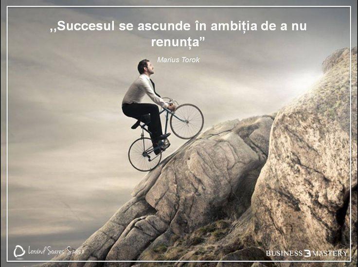 Ești tentat să renunți?  Succesul nu vine peste noapte, ci e răsplata celor ambițioși. Lucrează cu perseverență și vei avea rezultate fantastice!